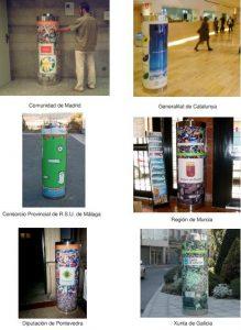 contenedores con anuncios